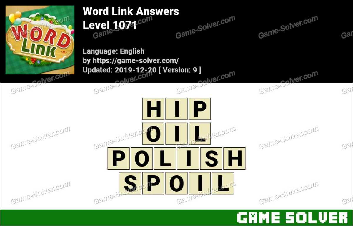 Word Link Level 1071 Answers