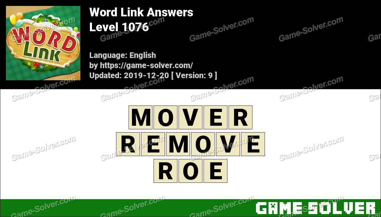 Word Link Level 1076 Answers