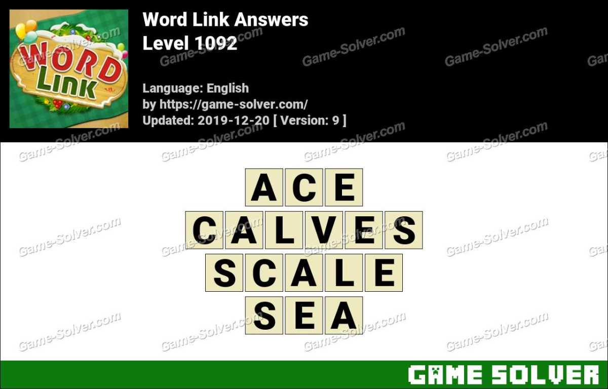Word Link Level 1092 Answers