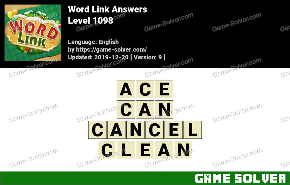 Word Link Level 1098 Answers
