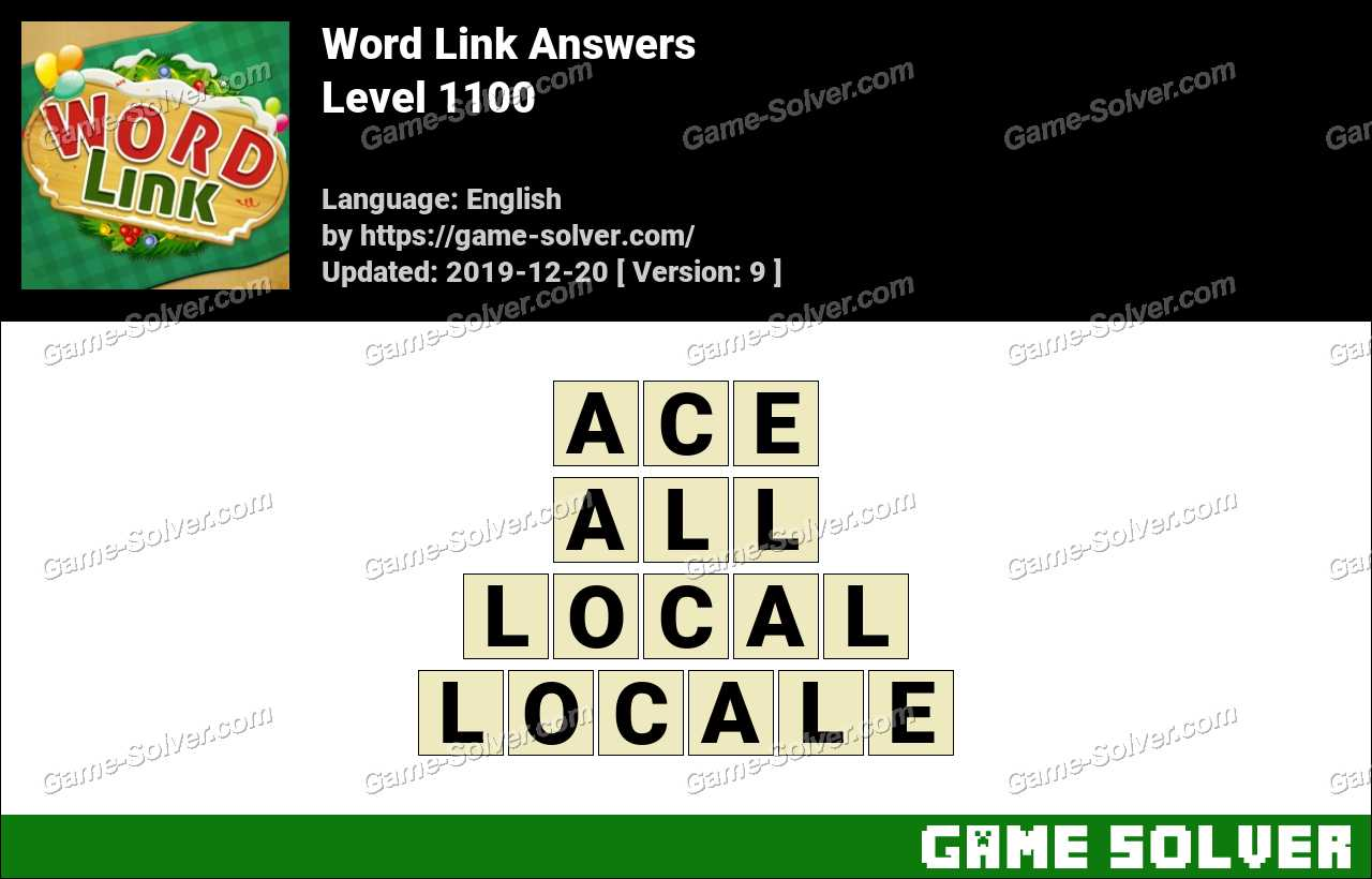 Word Link Level 1100 Answers