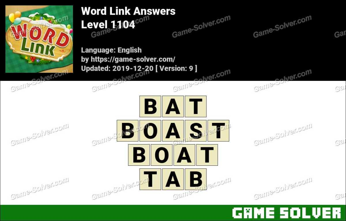Word Link Level 1104 Answers