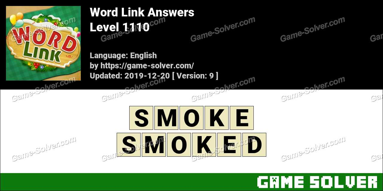 Word Link Level 1110 Answers