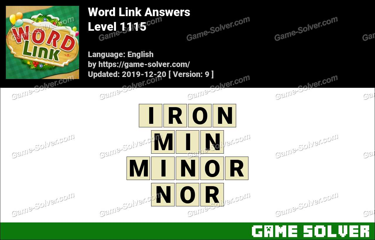 Word Link Level 1115 Answers