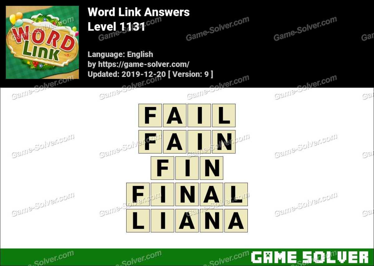 Word Link Level 1131 Answers