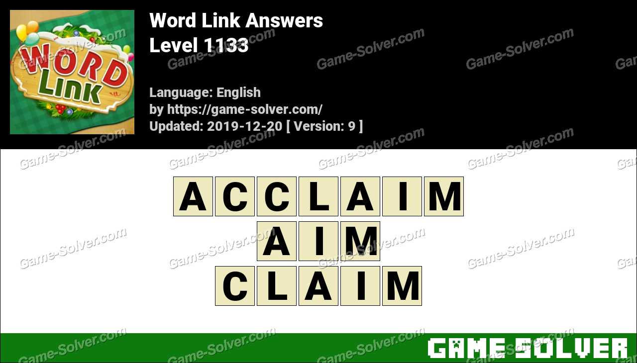 Word Link Level 1133 Answers