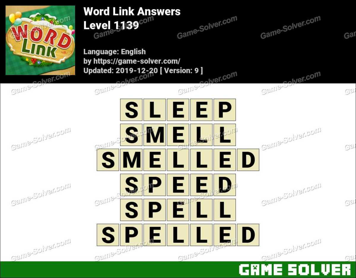 Word Link Level 1139 Answers