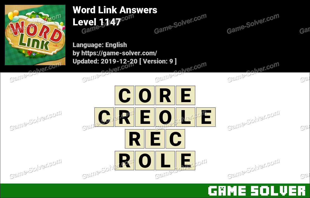 Word Link Level 1147 Answers
