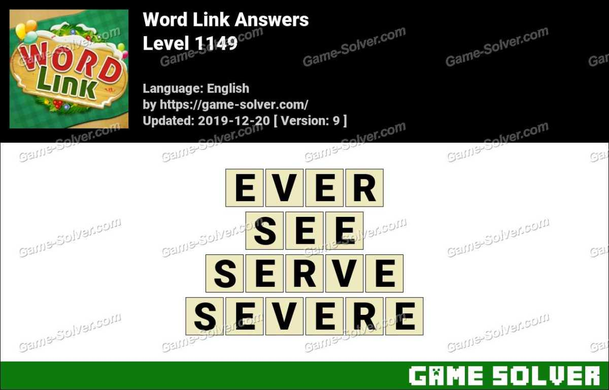 Word Link Level 1149 Answers