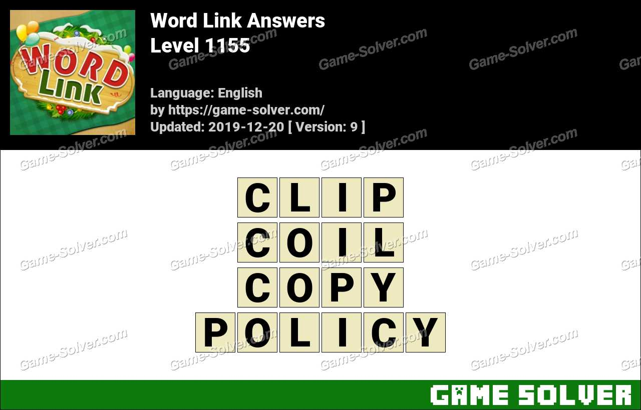 Word Link Level 1155 Answers