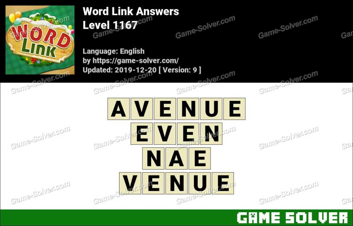 Word Link Level 1167 Answers