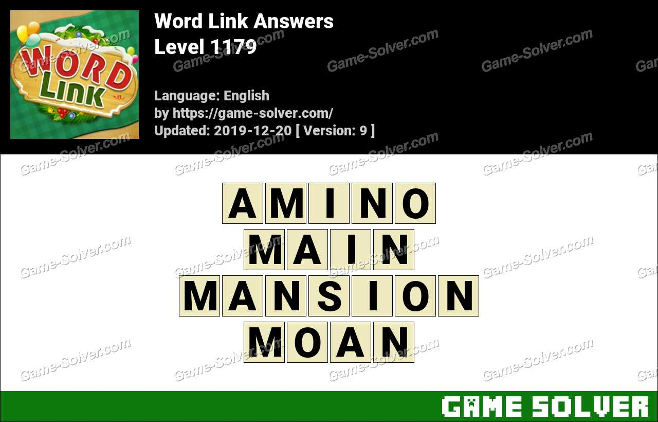 Word Link Level 1179 Answers
