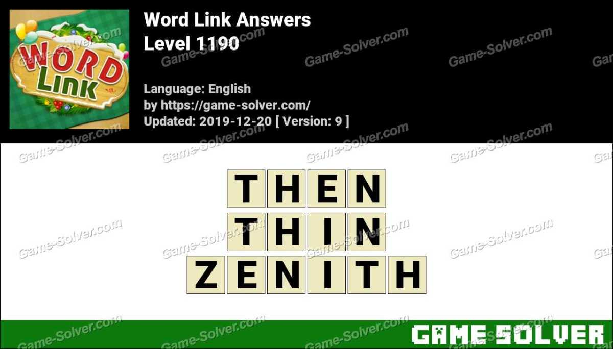 Word Link Level 1190 Answers