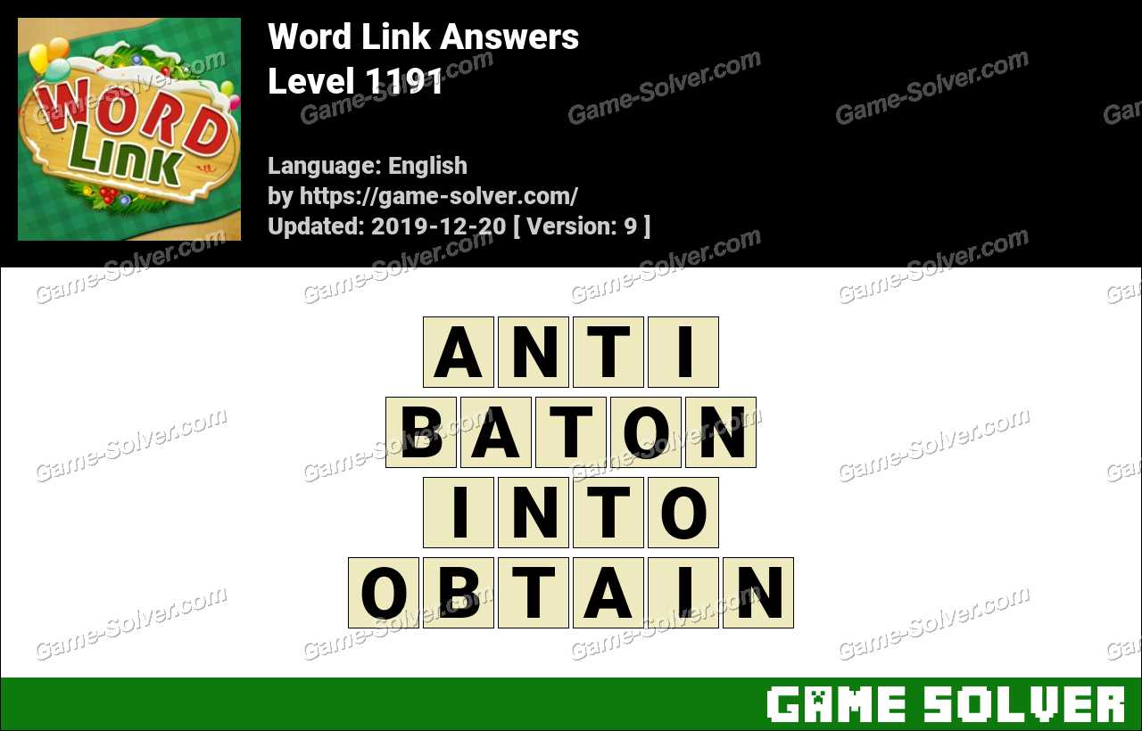 Word Link Level 1191 Answers
