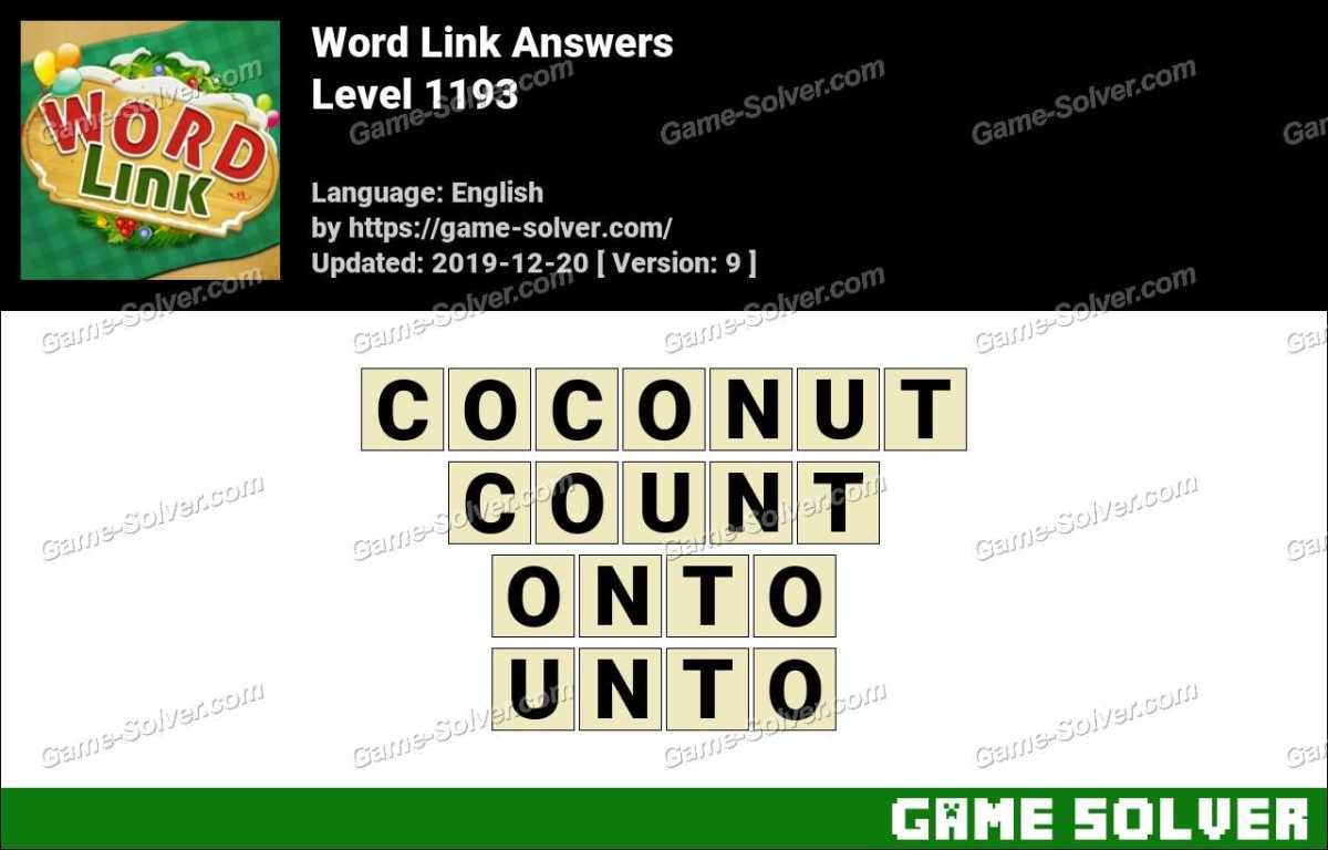 Word Link Level 1193 Answers