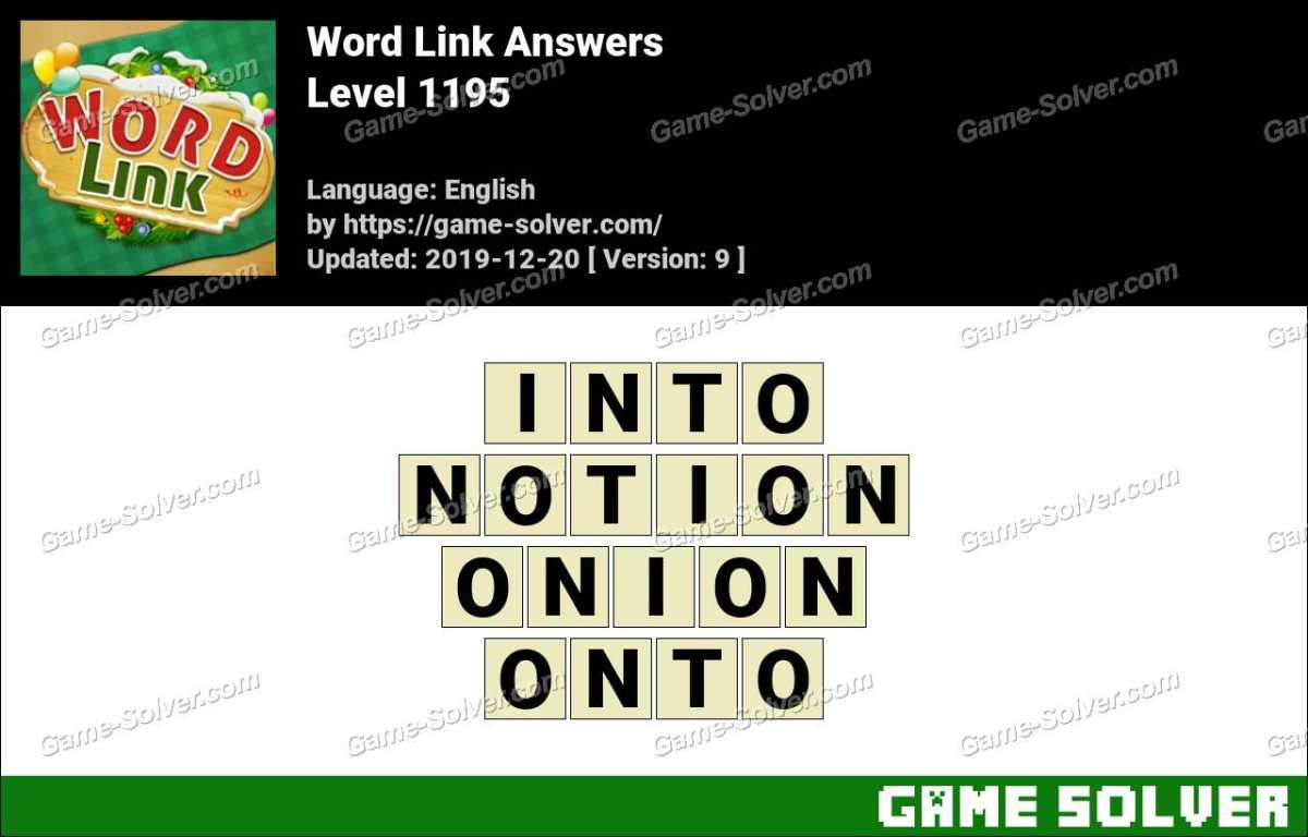 Word Link Level 1195 Answers