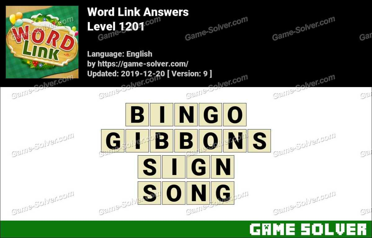 Word Link Level 1201 Answers