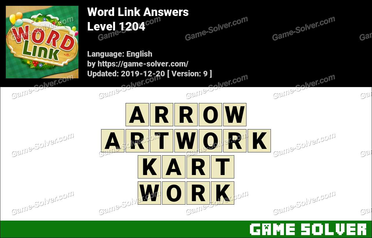 Word Link Level 1204 Answers