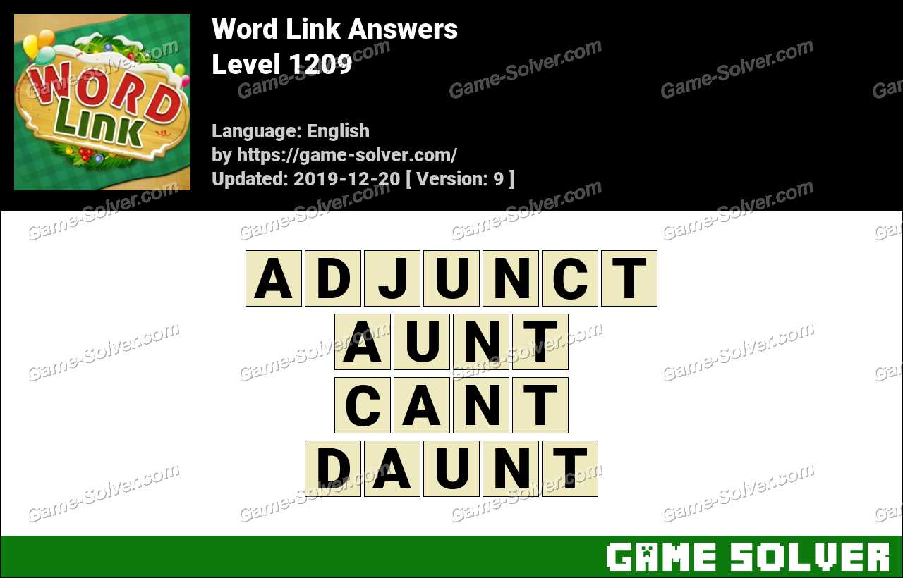 Word Link Level 1209 Answers