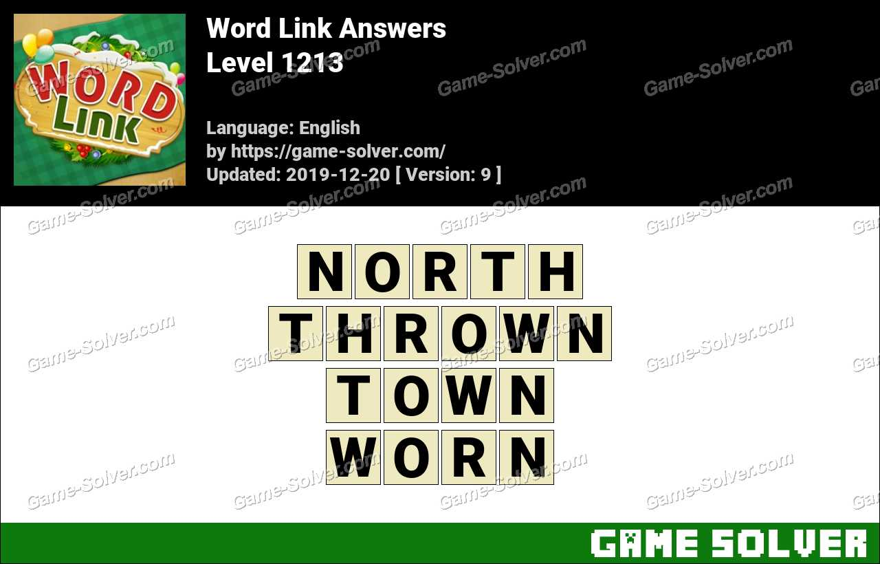 Word Link Level 1213 Answers