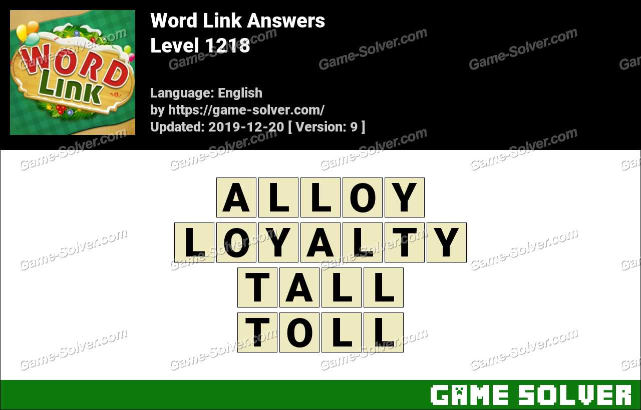Word Link Level 1218 Answers