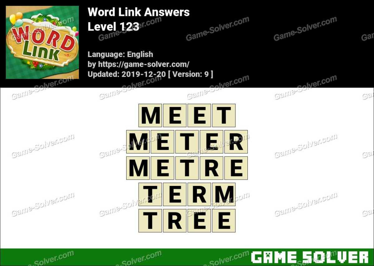 Word Link Level 123 Answers