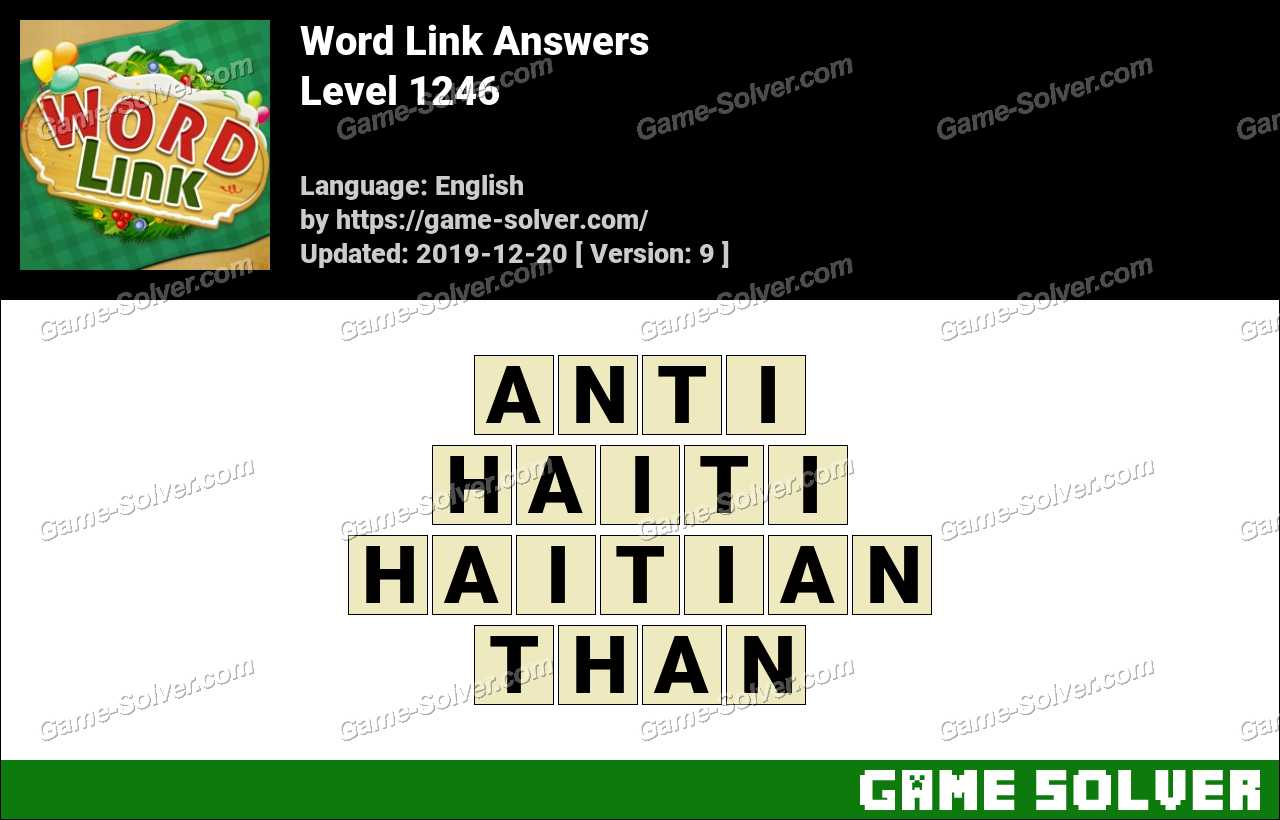 Word Link Level 1246 Answers