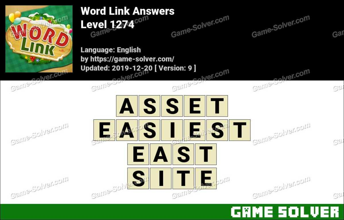 Word Link Level 1274 Answers