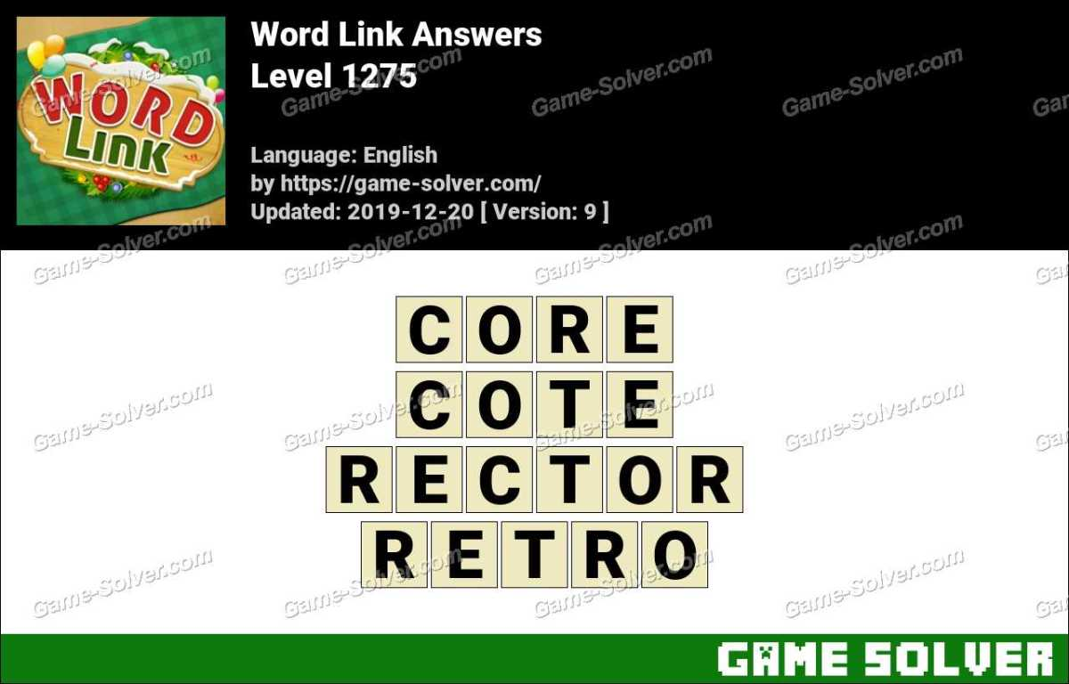 Word Link Level 1275 Answers