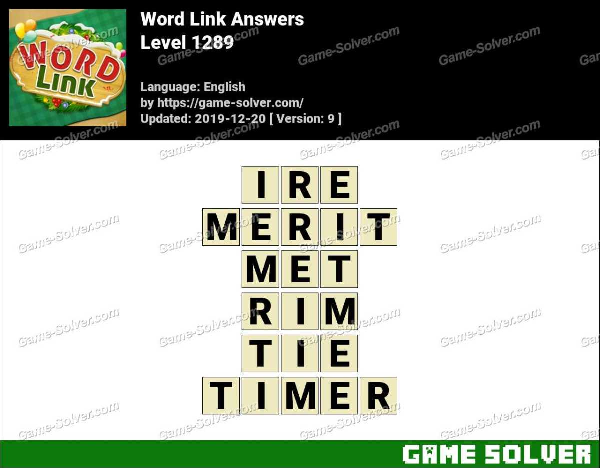 Word Link Level 1289 Answers