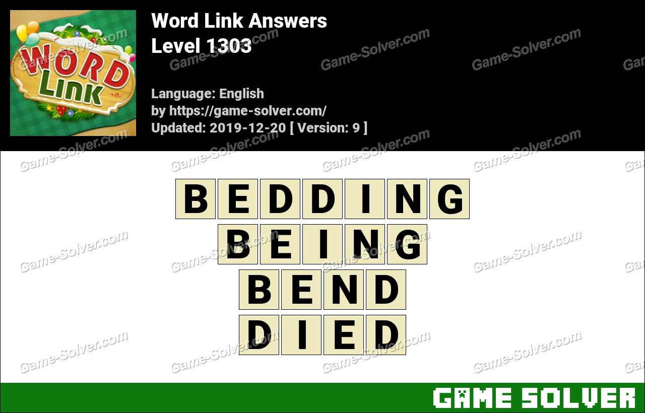 Word Link Level 1303 Answers