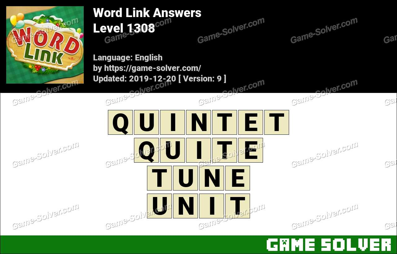 Word Link Level 1308 Answers