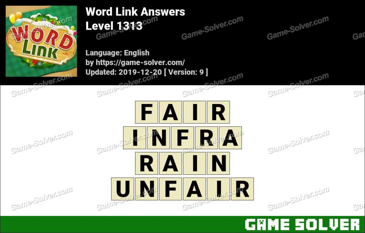 Word Link Level 1313 Answers