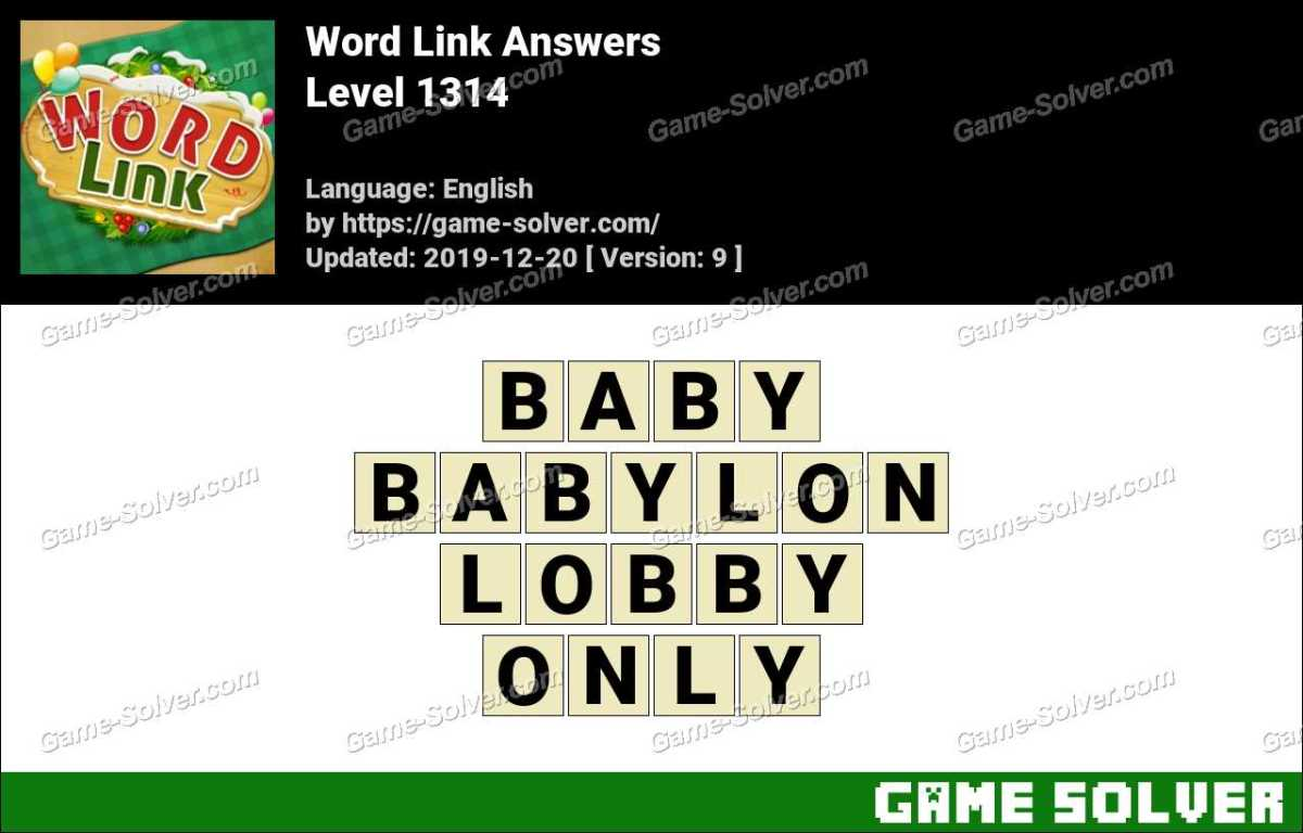 Word Link Level 1314 Answers