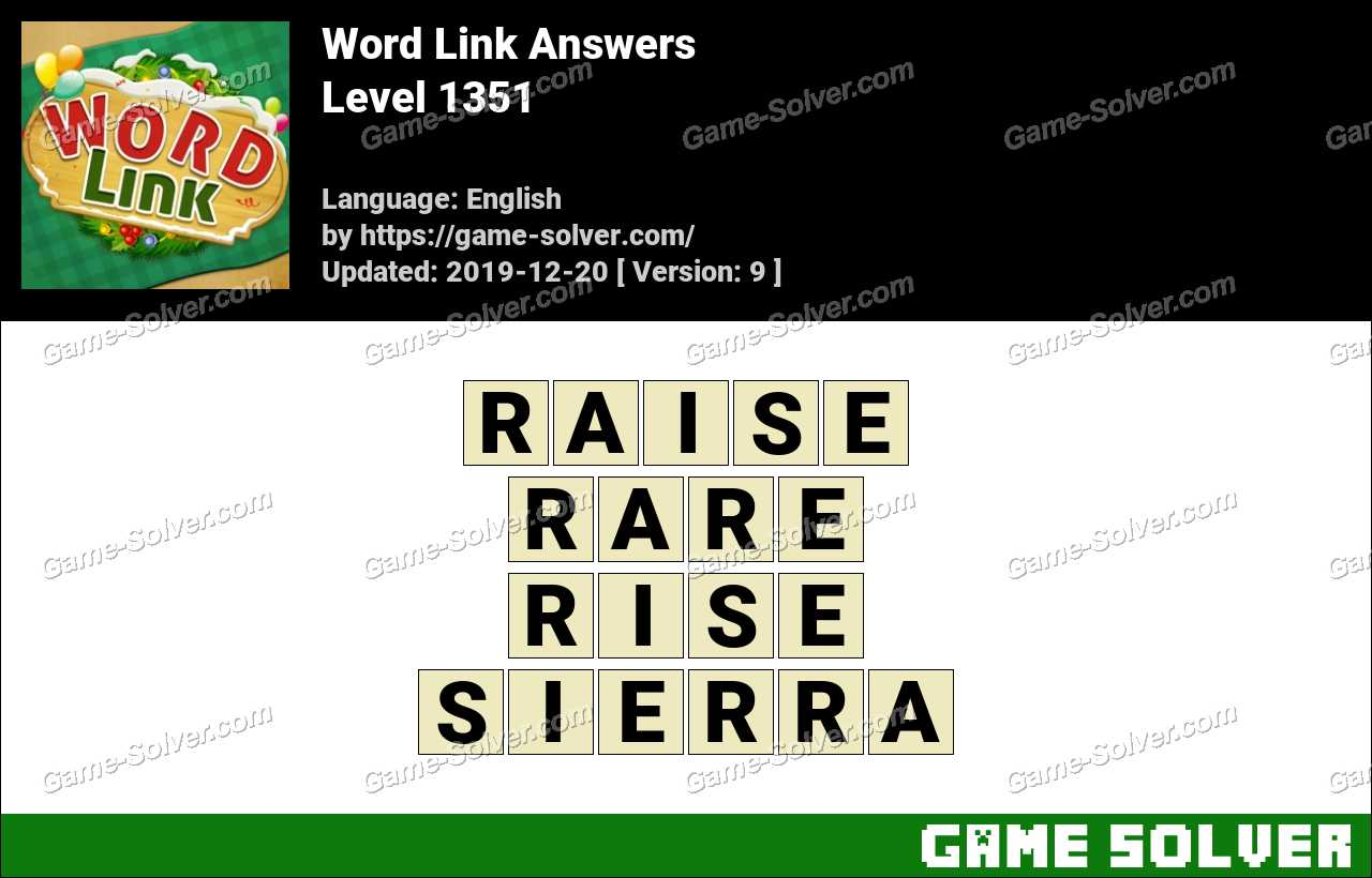 Word Link Level 1351 Answers