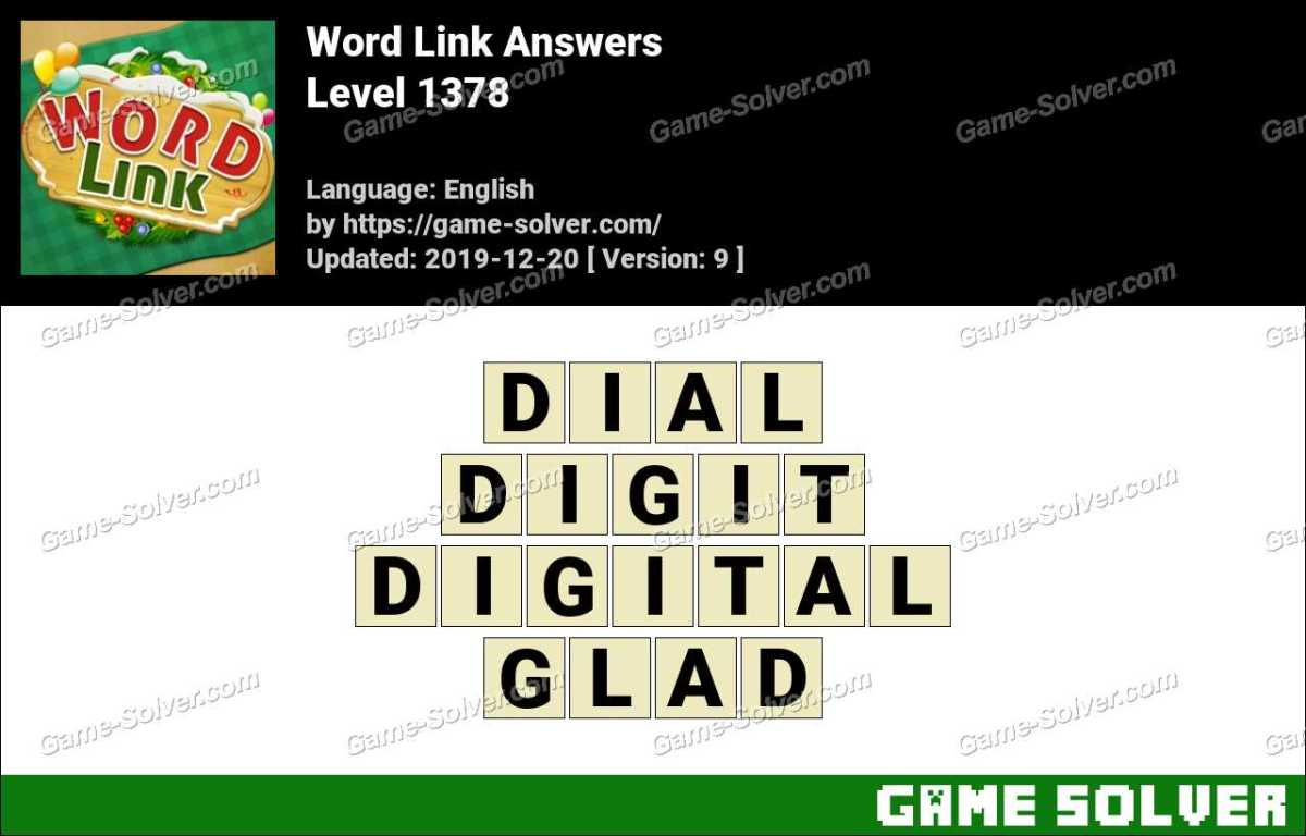 Word Link Level 1378 Answers