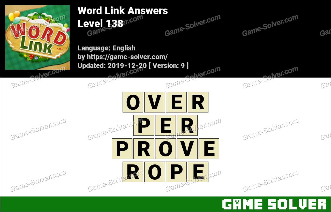 Word Link Level 138 Answers