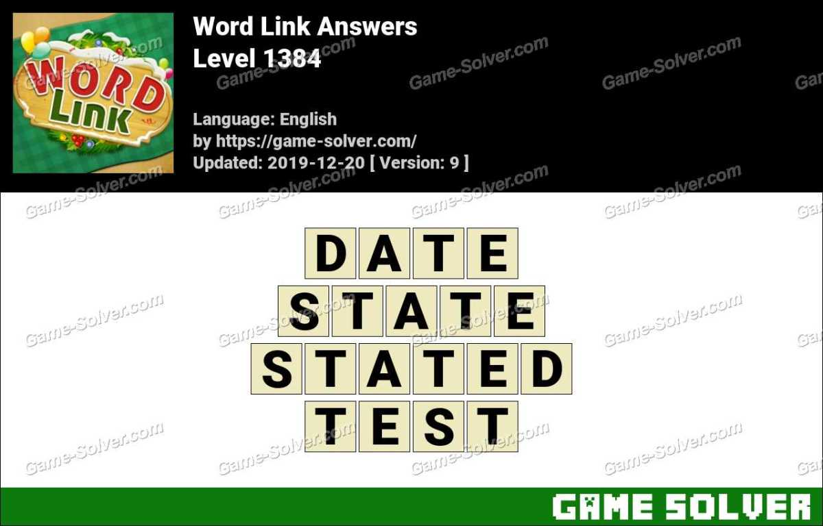 Word Link Level 1384 Answers