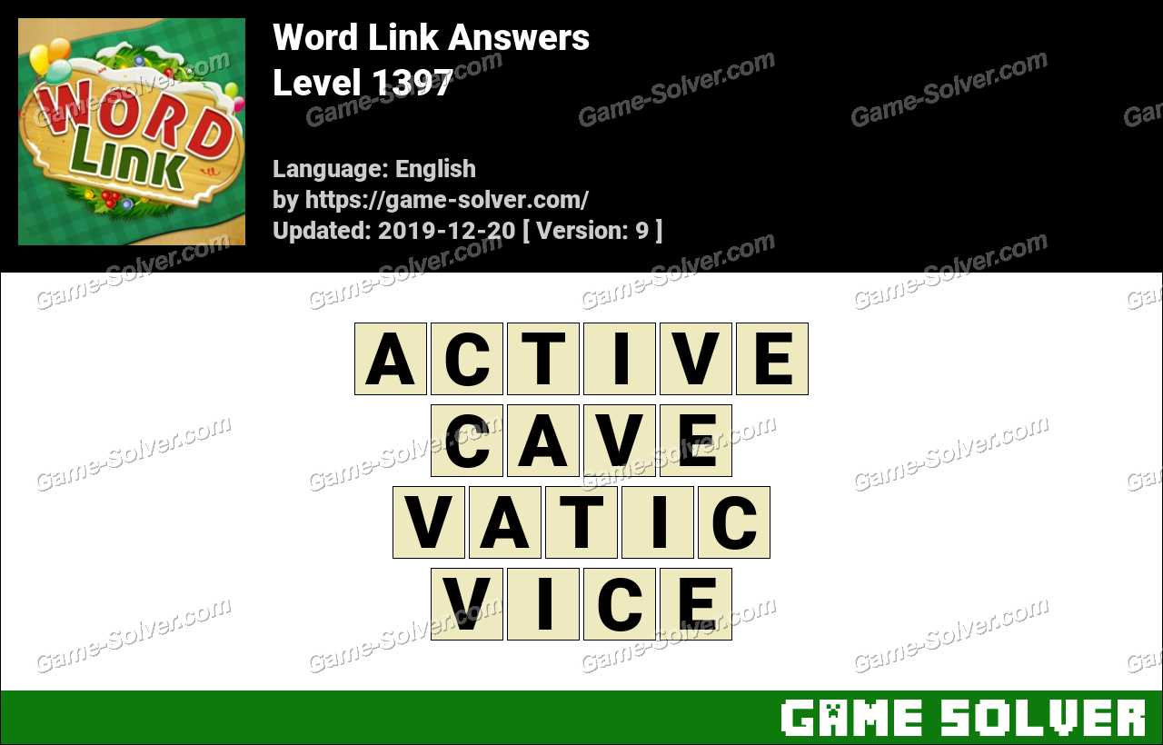 Word Link Level 1397 Answers