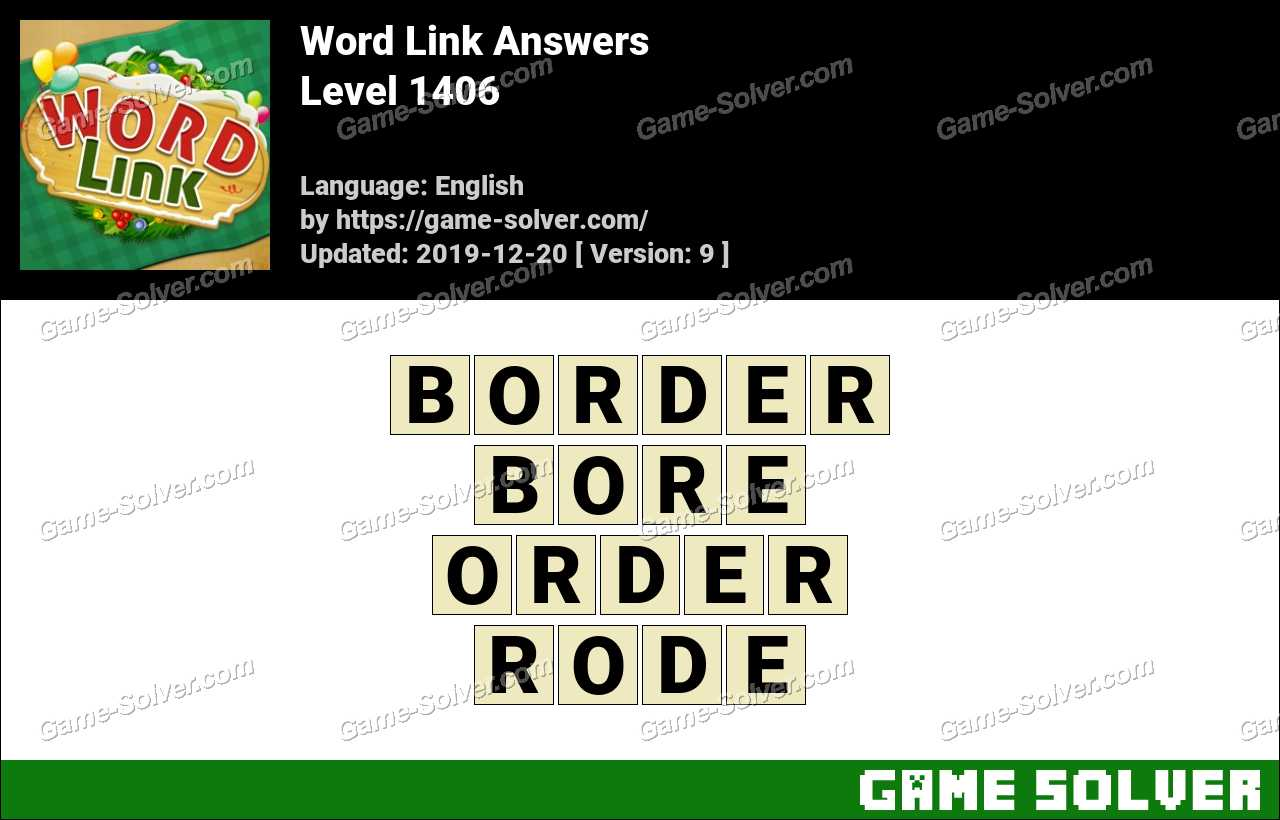 Word Link Level 1406 Answers