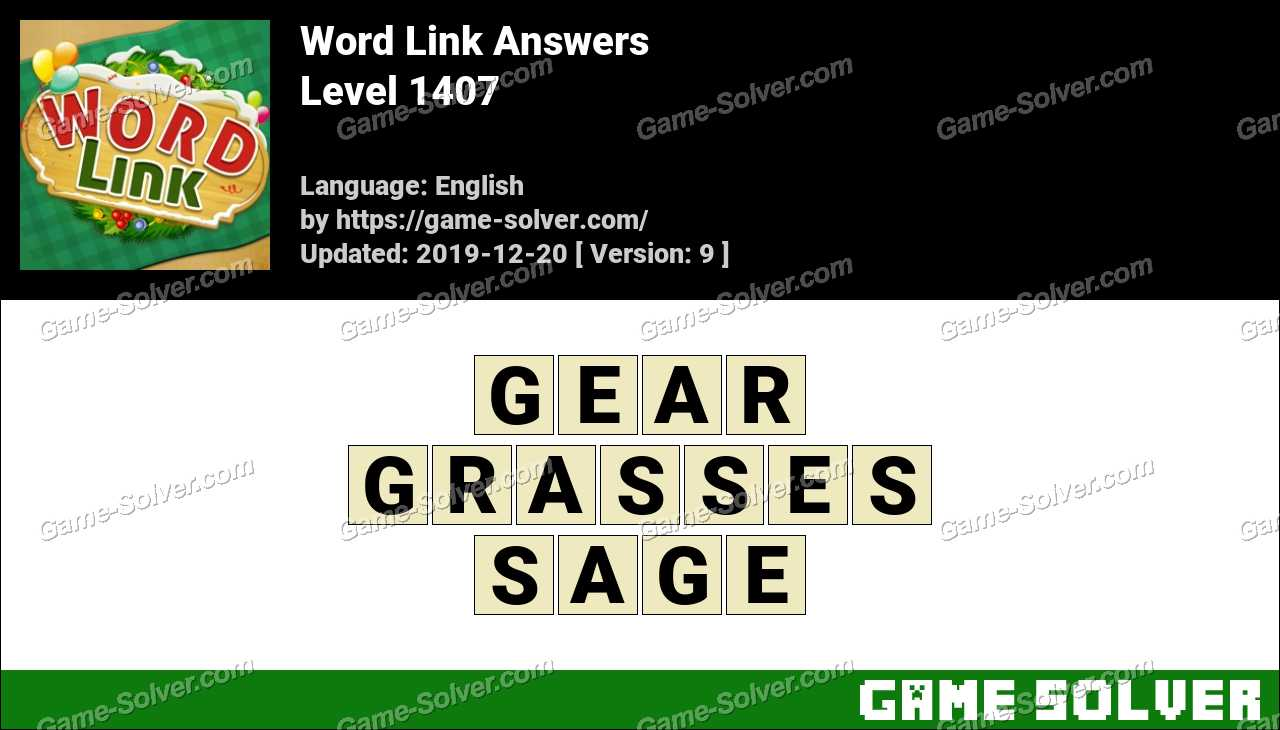 Word Link Level 1407 Answers