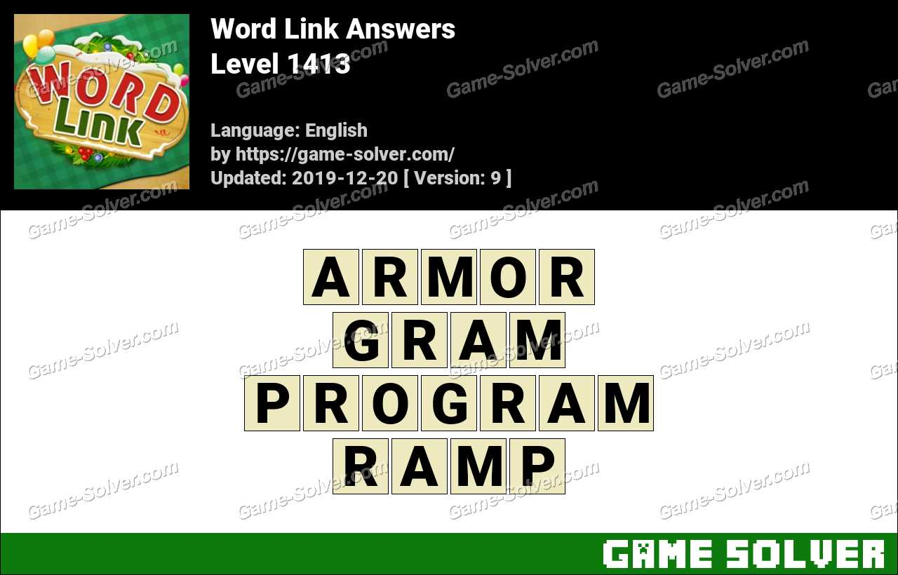 Word Link Level 1413 Answers
