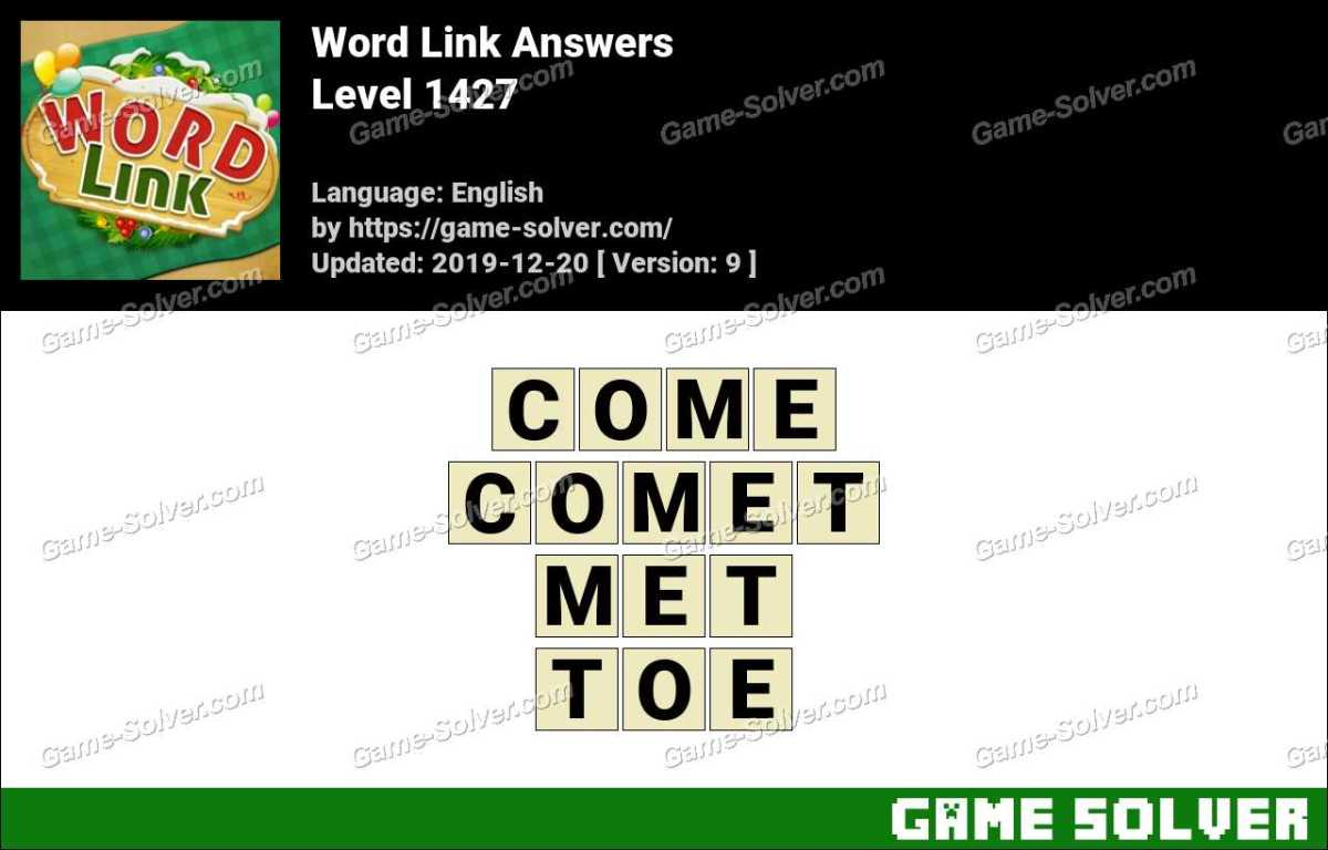 Word Link Level 1427 Answers