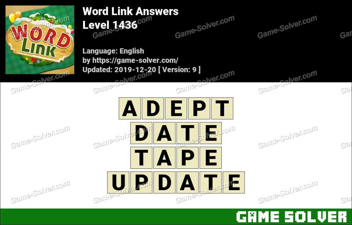 Word Link Level 1436 Answers