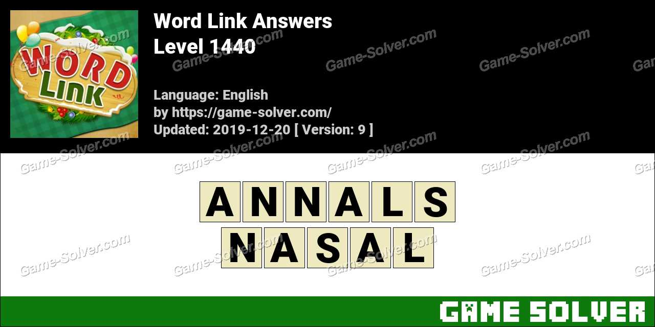 Word Link Level 1440 Answers