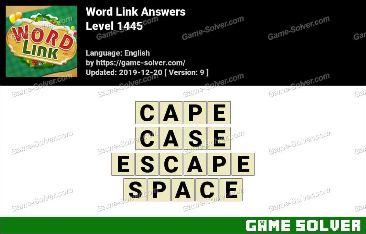 Word Link Level 1445 Answers