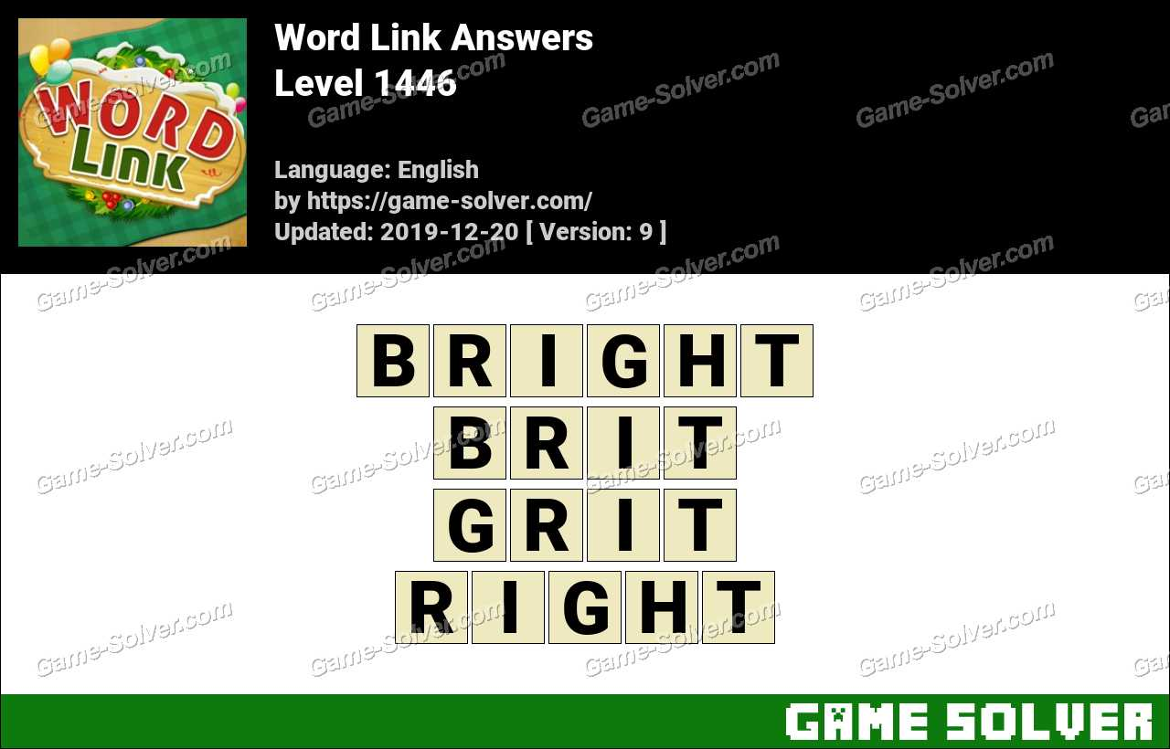 Word Link Level 1446 Answers