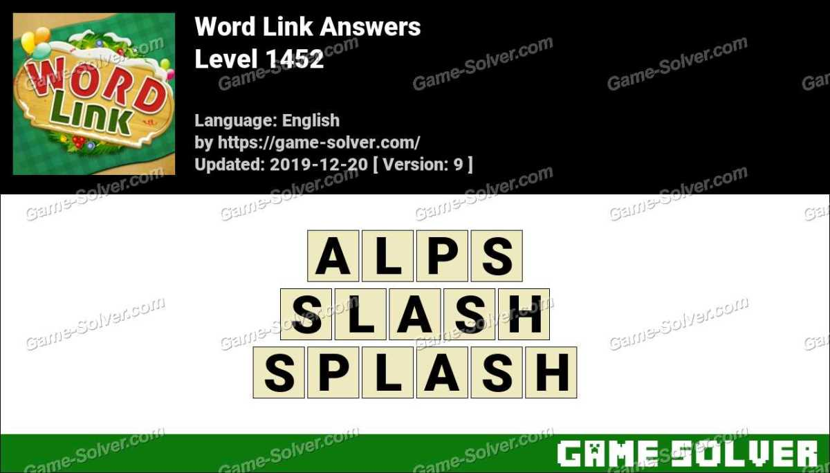 Word Link Level 1452 Answers