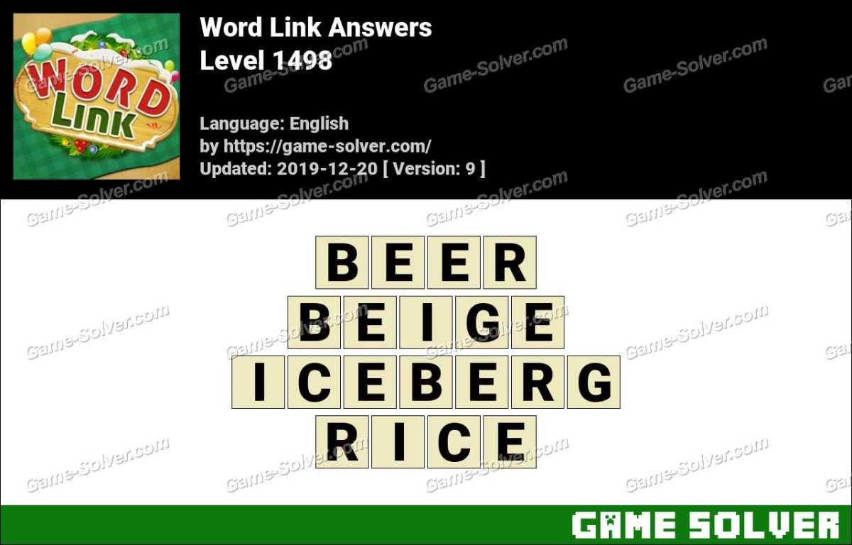 Word Link Level 1498 Answers