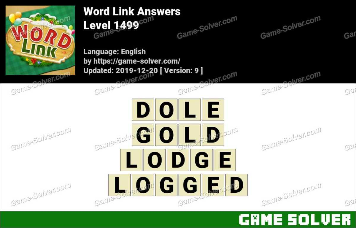 Word Link Level 1499 Answers